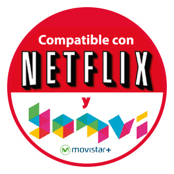 Android TV Compatible con Netflix y Yomvi