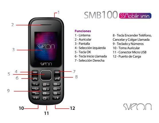 Teléfono Móvil libre con dual SIM Sveon SMB100 - Sveon