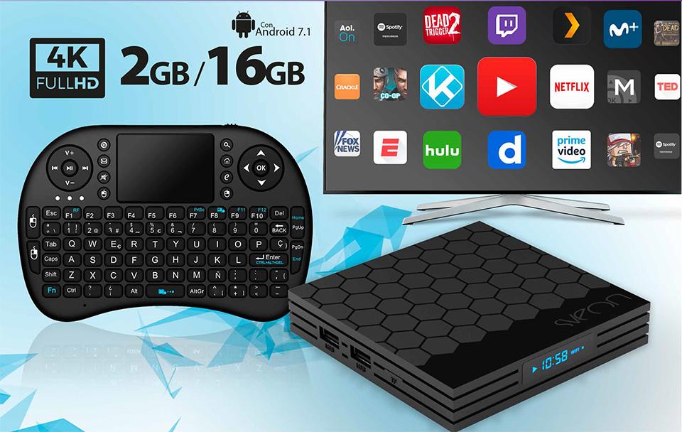 1428c1aa252d0 Android TV Box con Teclado Wireless compatible con Movistar+ ...